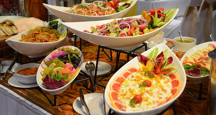 Indulge in the authentic international buffet, Dubai Dinner Cruise