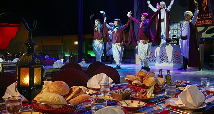 Explore the desert with the Bab Al Shams dining experience