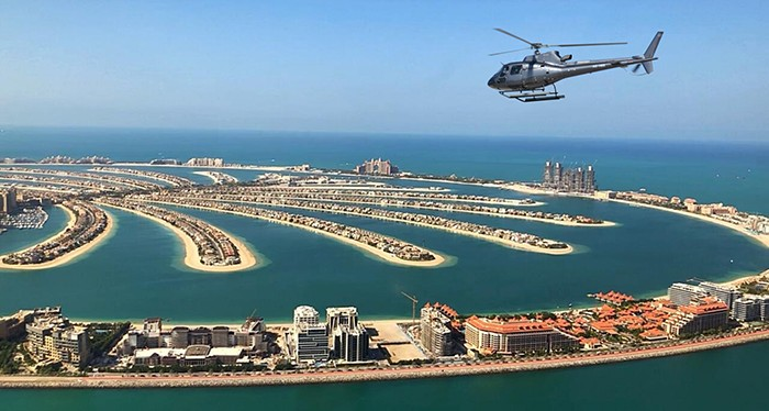 Explore the Palm Jumeirah at it's True Beauty, Helicopter Tour Dubai