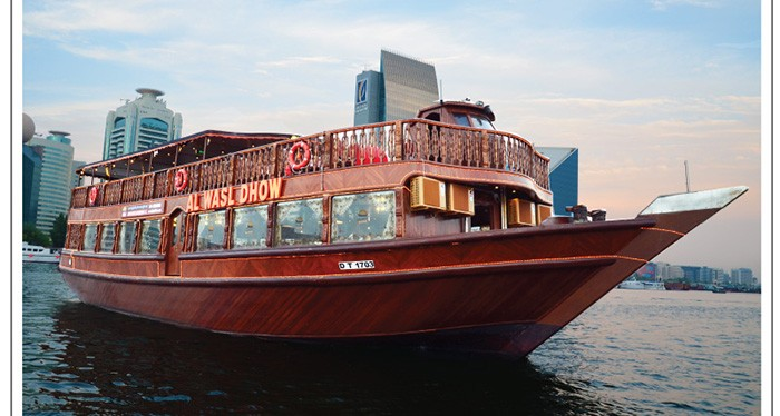 Enjoy a relaxing evening experience with the marina dhow cruise tour