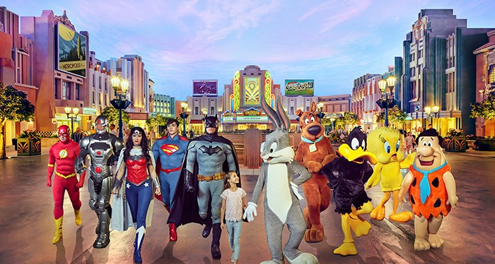 Spend your day with the super heroes at the Warner Bros World