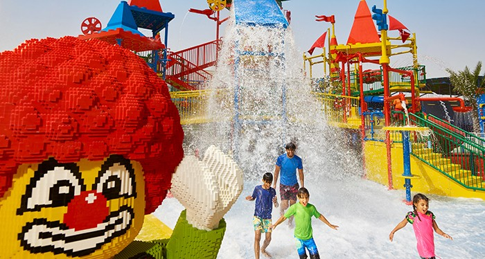 Enjoy a unique experience at Legoland Water Park.