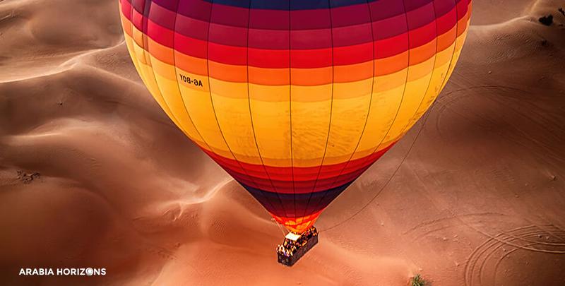 Hot Air Balloon (shared) with Wildlife Drive and Picnic in a Private Range Rover, dubai hot air balloon, balloons dubai