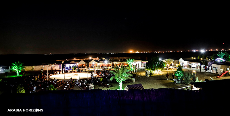 Evening Desert Safari, Dubai at night