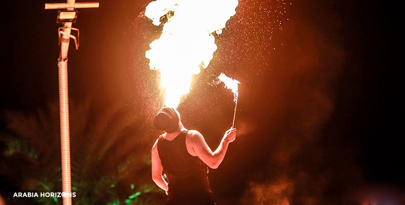 Evening Desert Safari, fire show