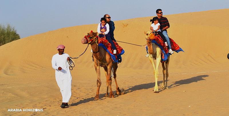 1001 Adventure Quad Bike Tour, camel ride in Dubai